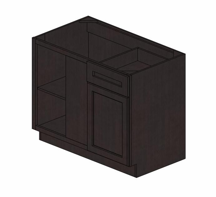 BBLC45/48 42u0026quot;W Pepper Shaker Blind Base Corner Cabinet #