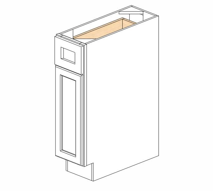 B09 Ice White Shaker Base Cabinet