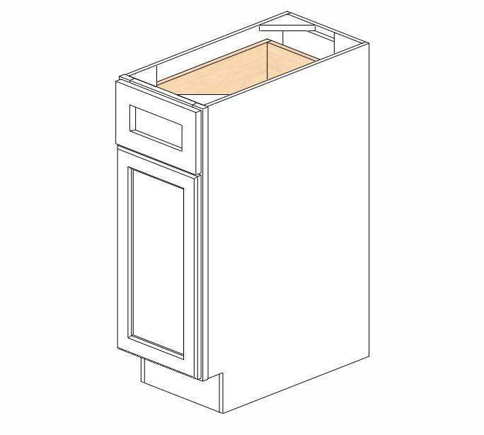 B12 Ice White Shaker Base Cabinet