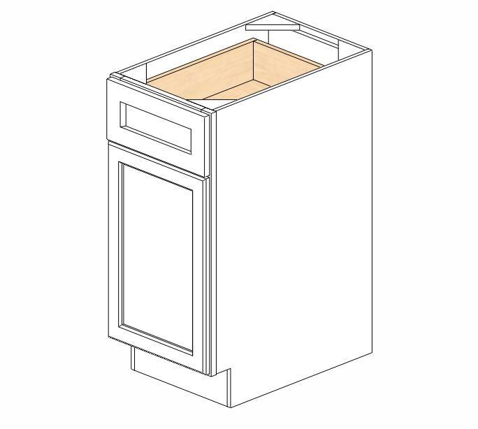 B15 Ice White Shaker Base Cabinet