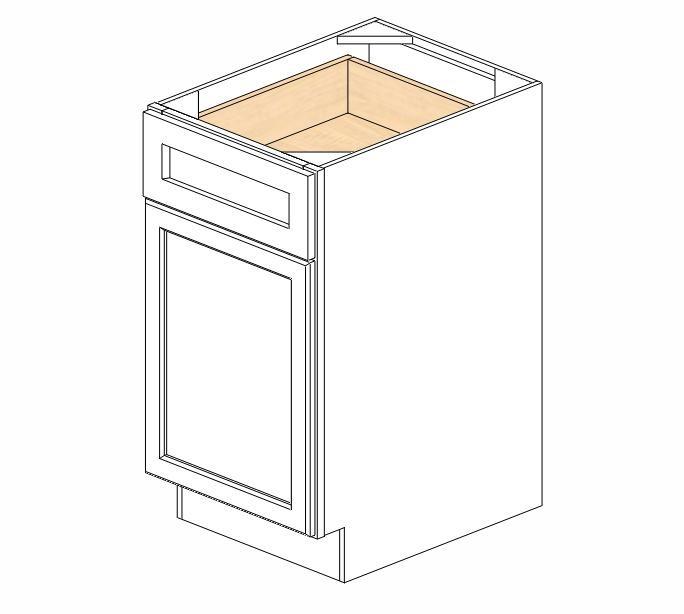 B18 Ice White Shaker Base Cabinet