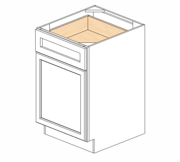 B21 Ice White Shaker Base Cabinet