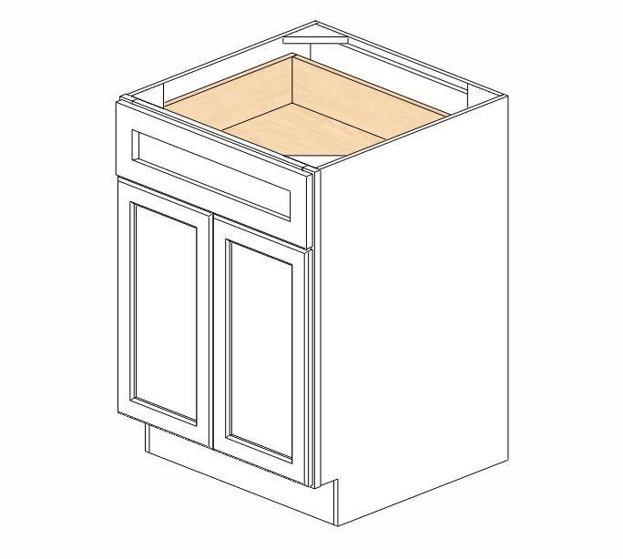 B24B Ice White Shaker Base Cabinet