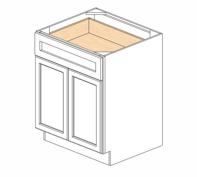 B27B Ice White Shaker Base Cabinet