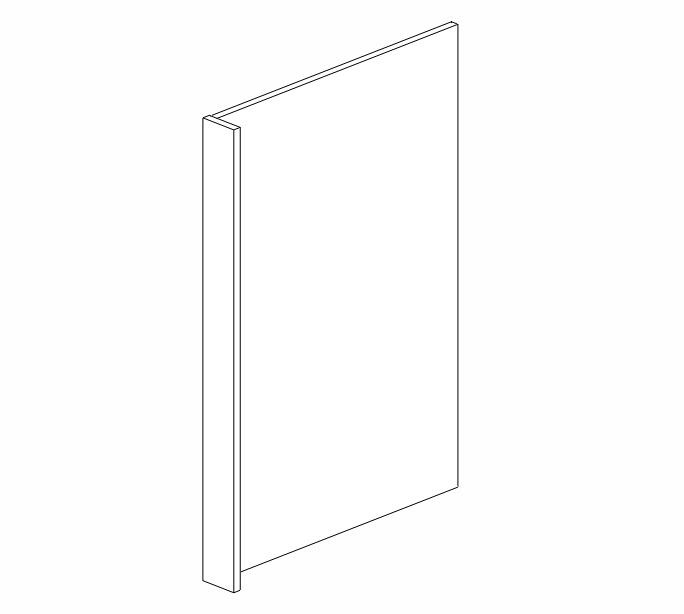 DWR33412 Ice White Shaker Dishwasher End Panel