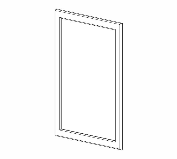 "EPW1230D Ice White Shaker Wall End Door for 30""H"