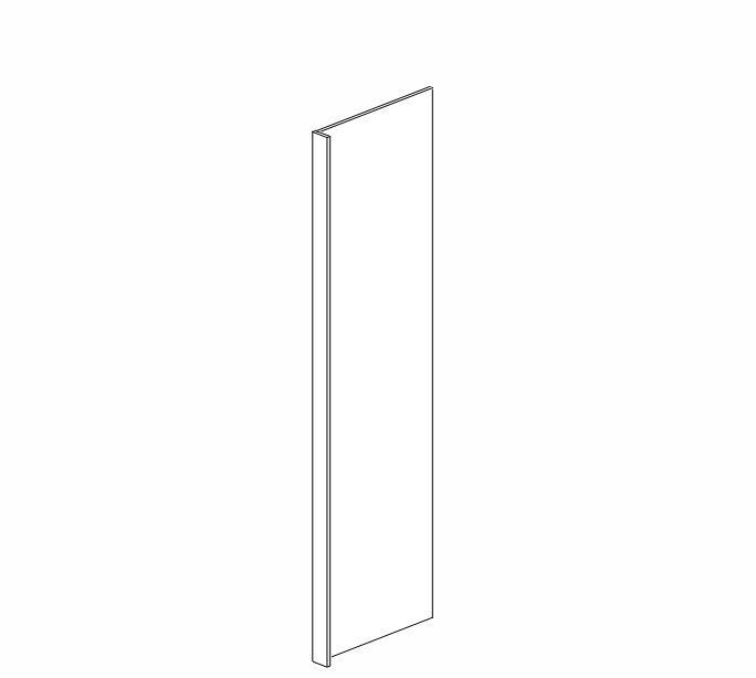 "REP2484(3)-3/4"" Ice White Shaker Refrigerator End Panel"
