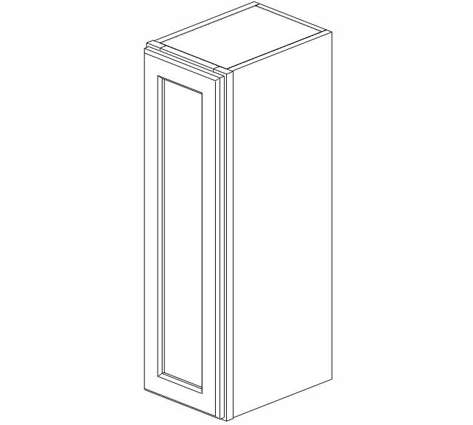 W0930 Ice White Shaker Wall Cabinet