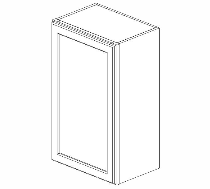 W1830 Ice White Shaker Wall Cabinet