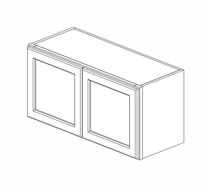 W3015B Ice White Shaker Wall Cabinet