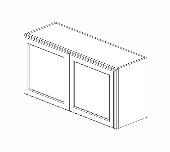 W3618B Ice White Shaker Wall Cabinet
