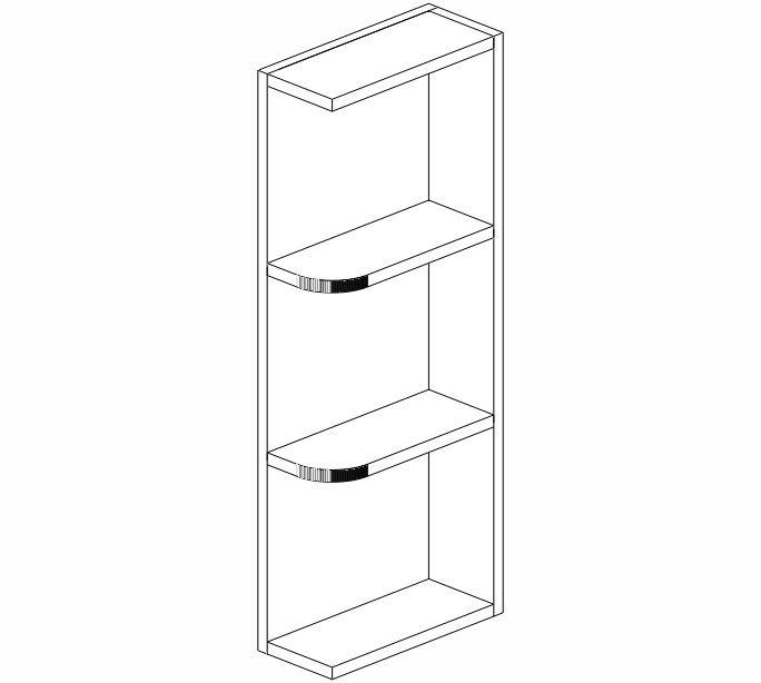 Kitchen Cabinet End Shelf: WES530 Ice White Shaker Wall End Shelf # Kitchen Cabinets
