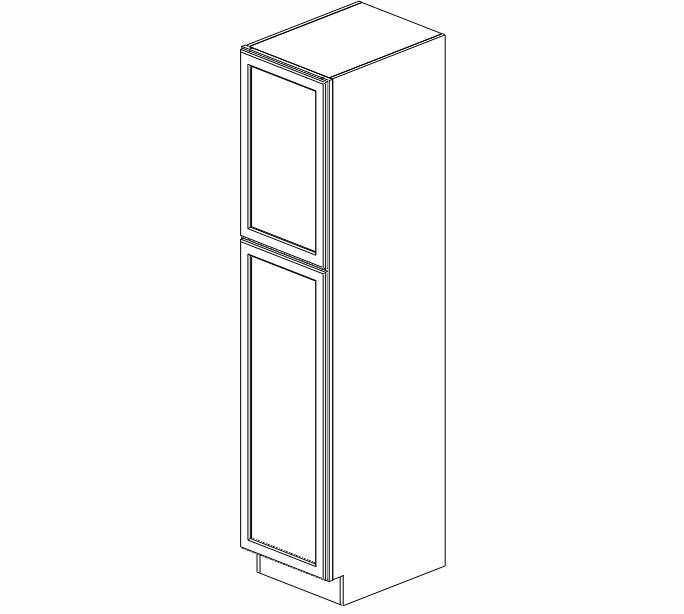 WP1884 Ice White Shaker Wall Pantry Cabinet #
