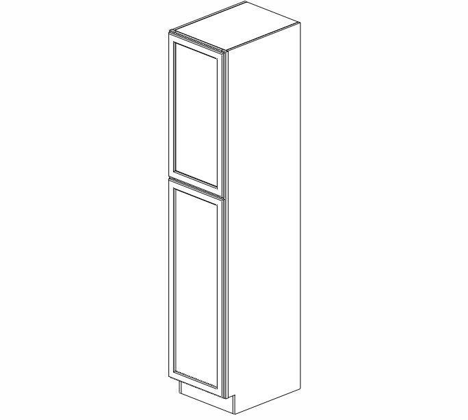 WP1890 Ice White Shaker Wall Pantry Cabinet