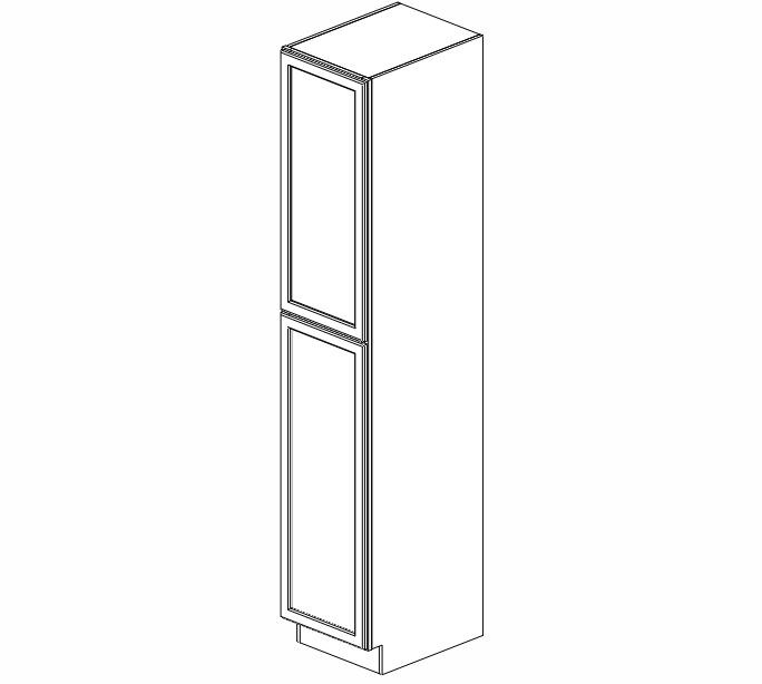 WP1896 Ice White Shaker Wall Pantry Cabinet