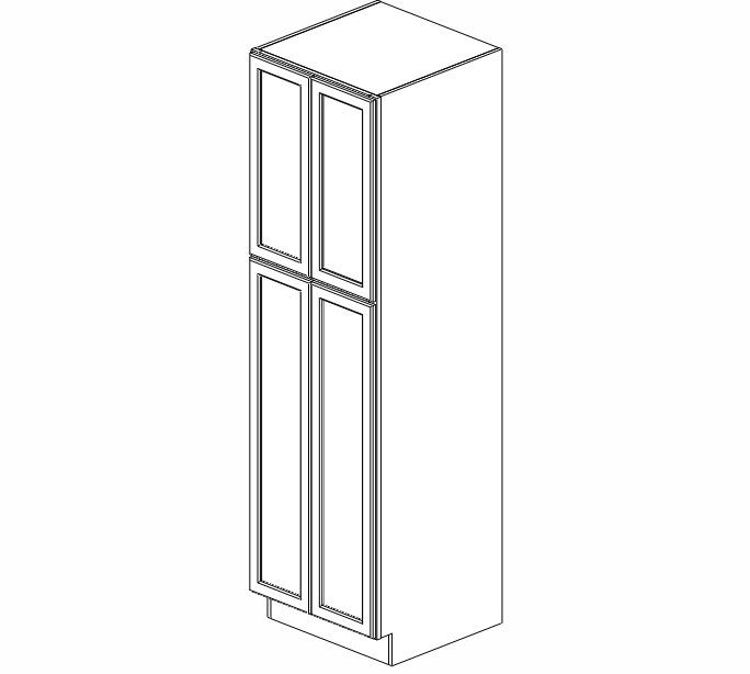WP2484B Ice White Shaker Wall Pantry Cabinet