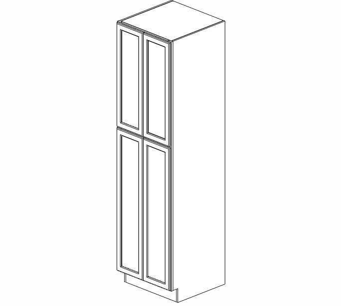 WP2490B Ice White Shaker Wall Pantry Cabinet