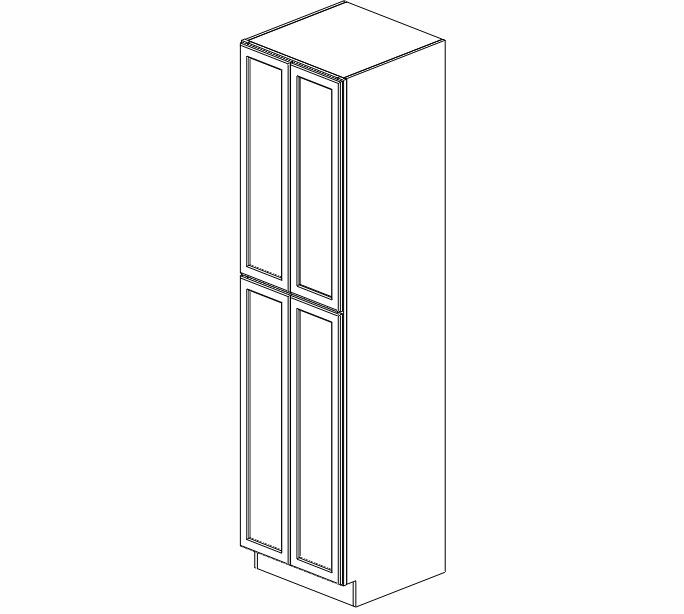 WP2496B Ice White Shaker Wall Pantry Cabinet