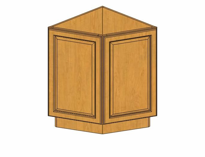 AB24 (Base) Country Oak Angle Base Cabinet Kitchen