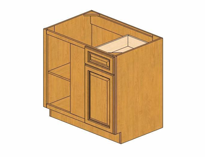 Bblc39 42 36 w country oak blind base corner cabinet for 36 corner cabinet