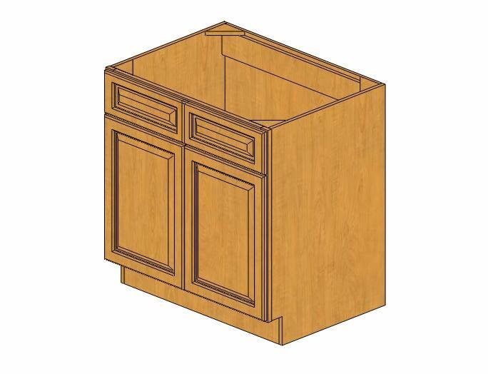 Country Sink Base : ... / Silver Series / Country Oak / SB33B Country Oak Sink Base Cabinet