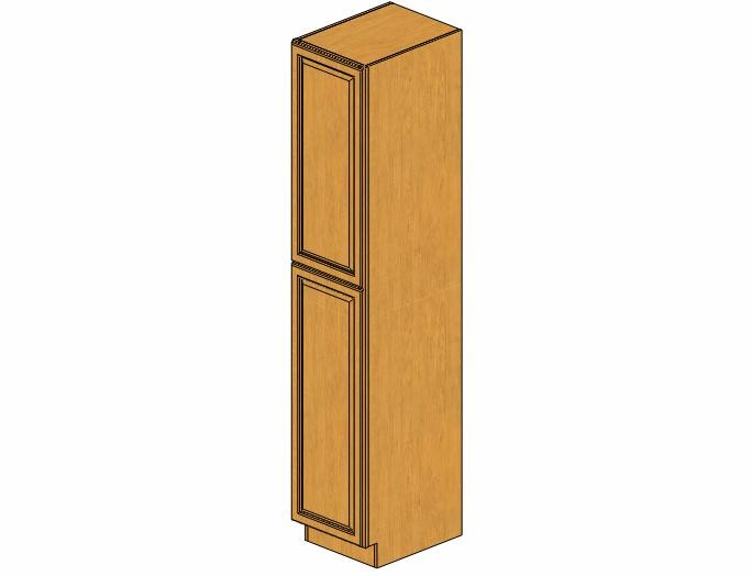 WP1896 Country Oak Wall Pantry Cabinet