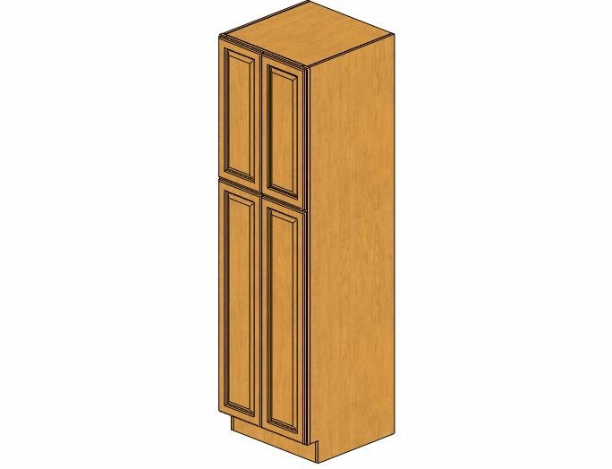WP2484B Country Oak Wall Pantry Cabinet
