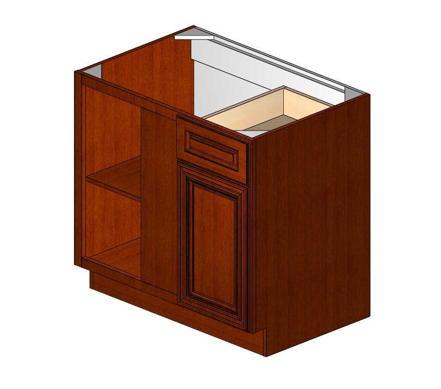 Bblc39 42 36 w sienna rope blind base corner cabinet rta for 36 corner cabinet