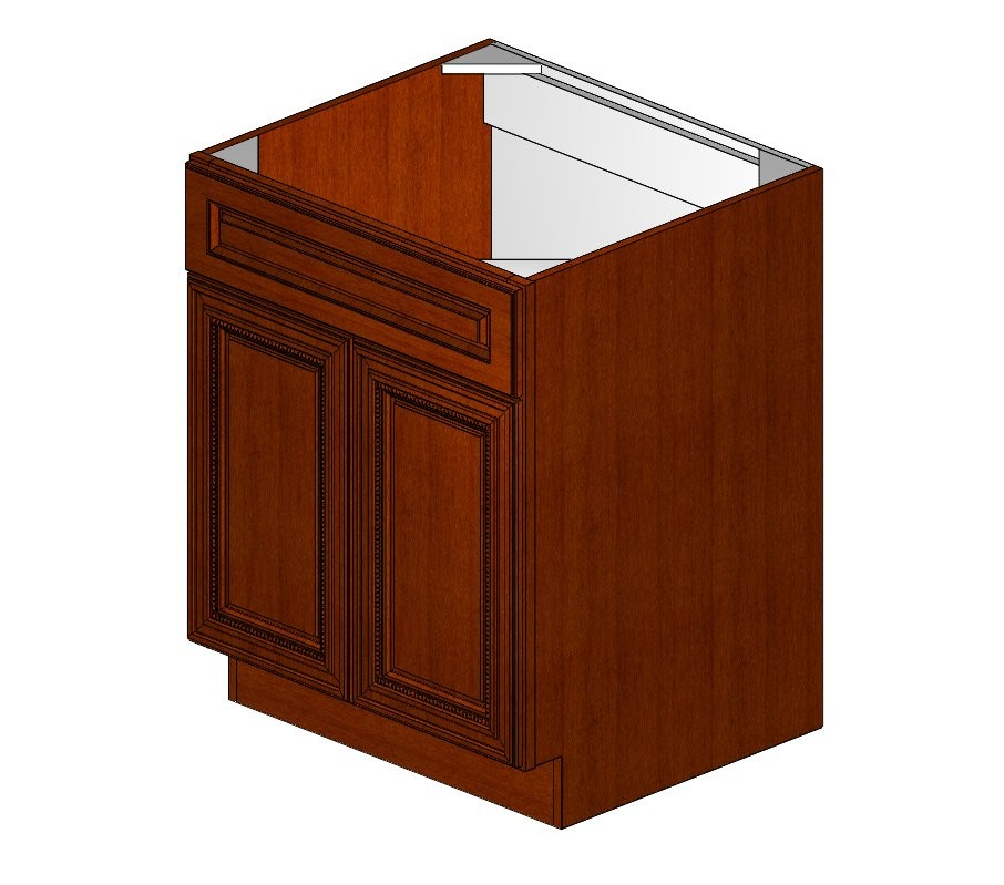 Sb27b sienna rope sink base cabinet sienna rope for Where to order kitchen cabinets