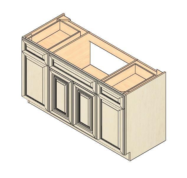 Amazing Kitchen 60 Inch Kitchen Sink Base Cabinet Idea: SB60 Vintage White Sink Base