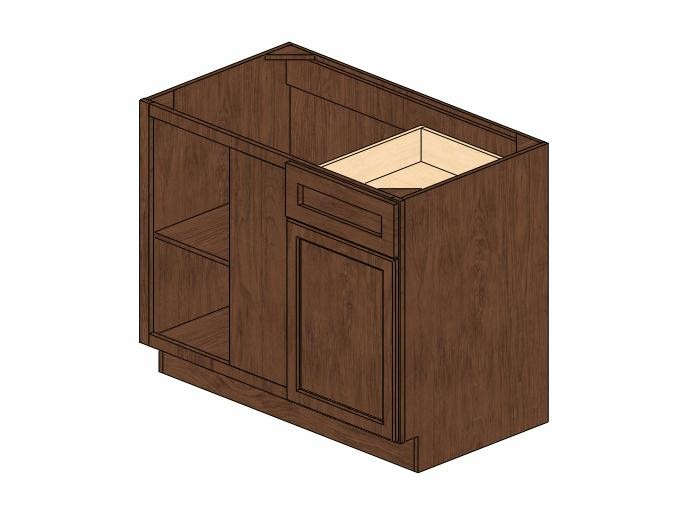 """BBLC45/48-42""""W# Wave Hill Blind Base Corner Cabinet ..."""