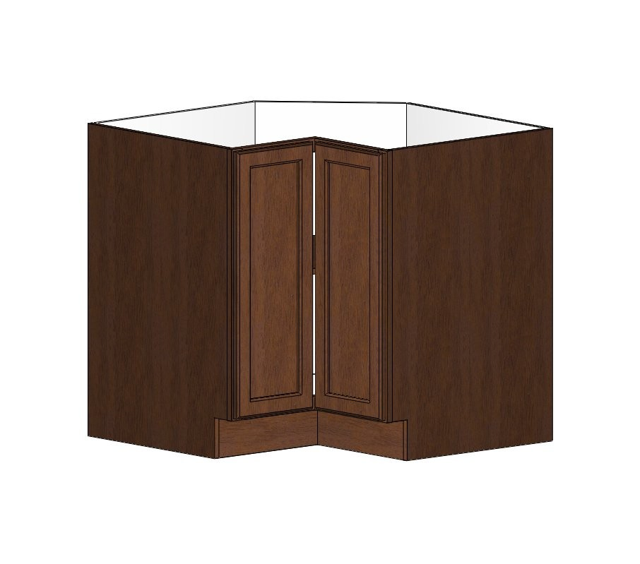 Ls3612s Wave Hill Corner Base Lazy Susan Cabinet W Fixed