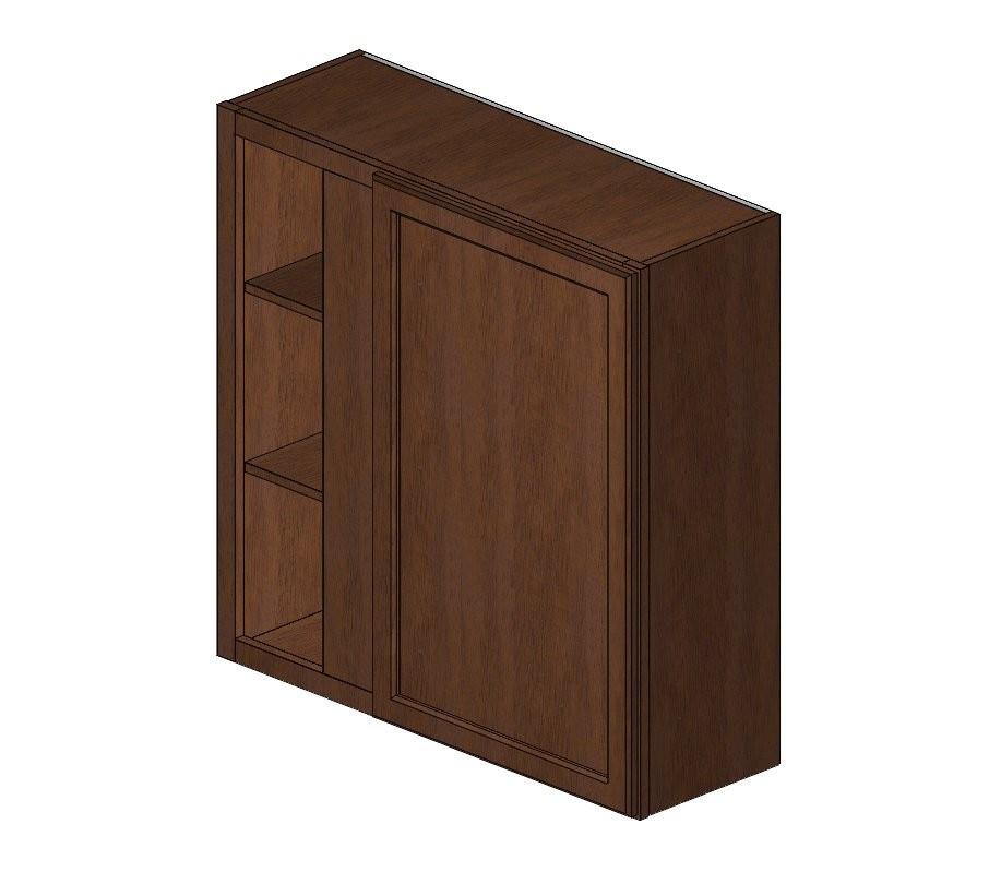 Wblc39 42 3636 wave hill wall blind corner cabinet wave for Blind corner kitchen cabinets