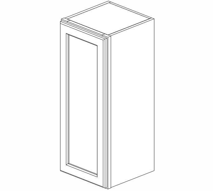 W1230 Uptown White Wall Cabinet #