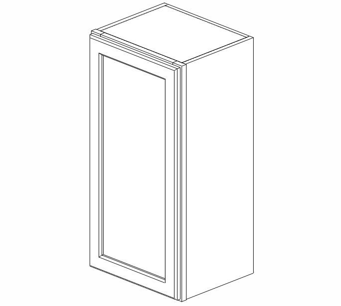 W1530 Uptown White Wall Cabinet #