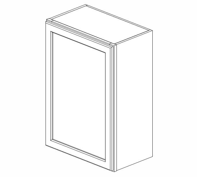 W2130 Uptown White Wall Cabinet #