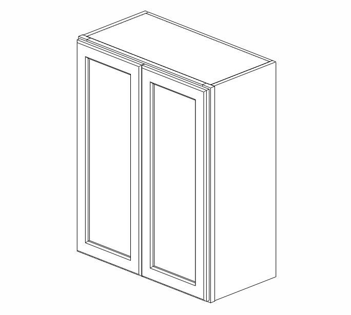 W2430B Uptown White Wall Cabinet #
