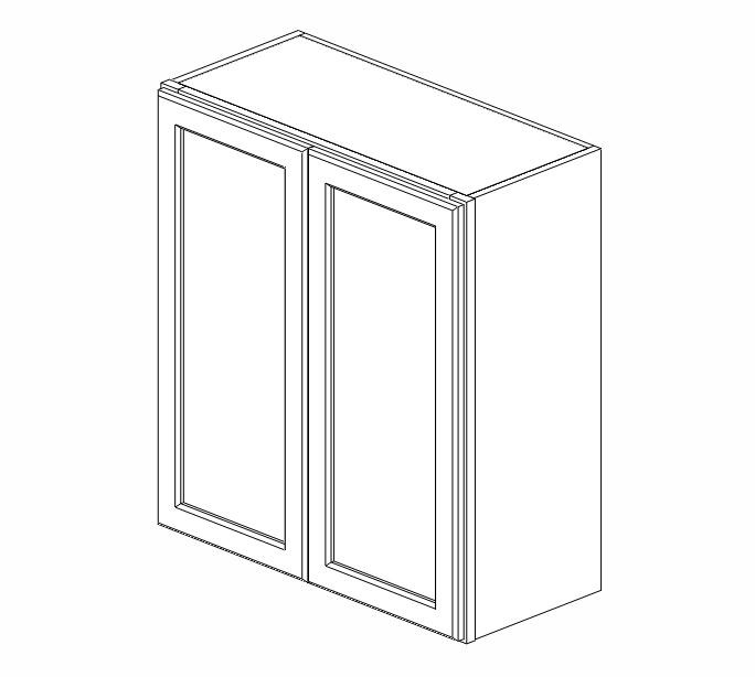 W2730B Uptown White Wall Cabinet #
