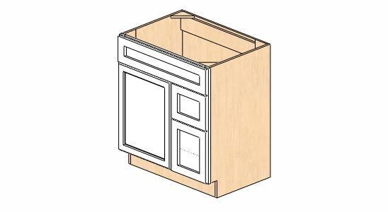 Bathroom Vanity Cabinet Dimensions sw-v3021dr dimension cabinets   snowhaven bathroom vanity cabinet