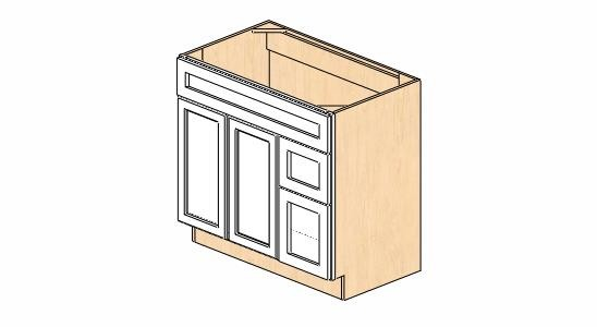 Bathroom Vanity Cabinet Dimensions sw-v3621dr dimension cabinets   snowhaven bathroom vanity cabinet