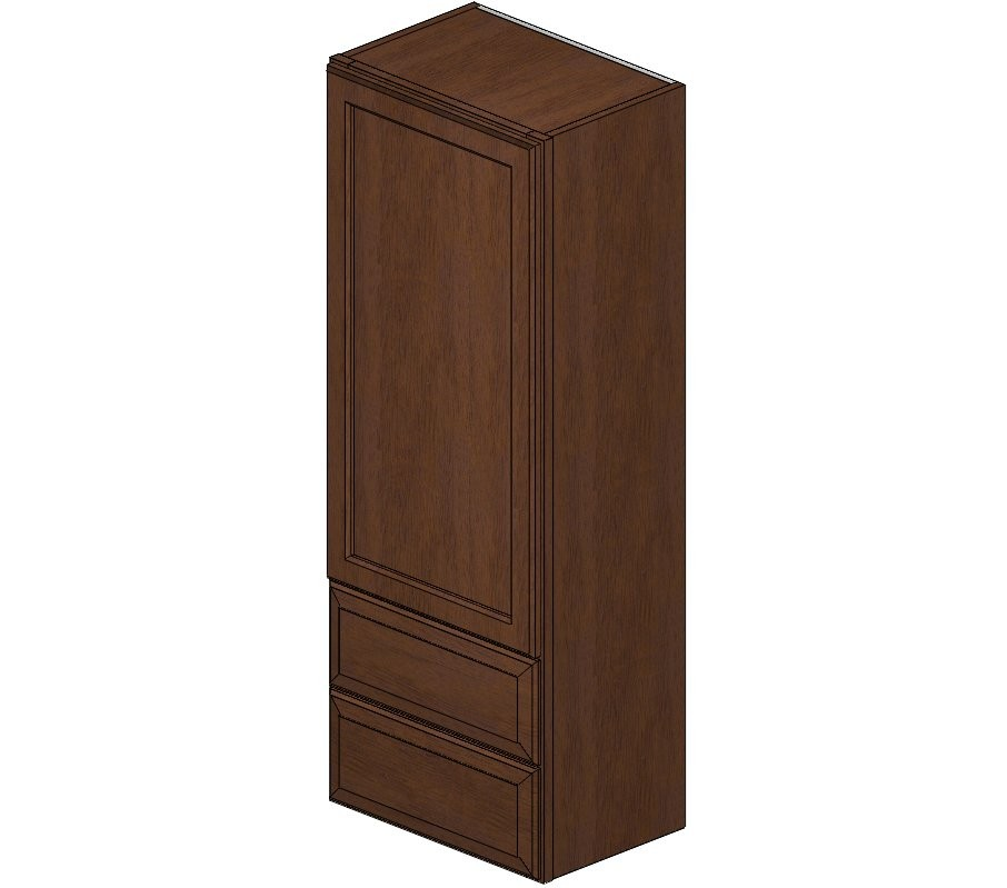 Kitchen Wall Cabinets With Drawers: W2D1848 Dark Wave Hill Wall Cabinet W/ Built In Drawers