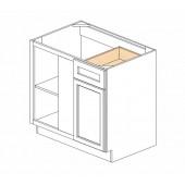 "BBLC39/42-36""W Ice White Shaker Blind Base Corner Cabinet"