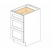 DB18(3) Ice White Shaker Drawer Base Cabinet