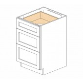DB21(3) Ice White Shaker Drawer Base Cabinet