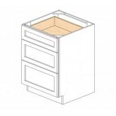 DB24(3) Ice White Shaker Drawer Base Cabinet