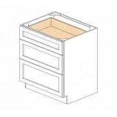 DB30(3) Ice White Shaker Drawer Base Cabinet