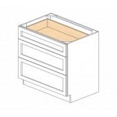 DB36(3) Ice White Shaker Drawer Base Cabinet