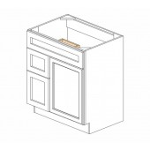 "S3021DL-34-1/2"" Ice White Shaker Vanity Sink Base"