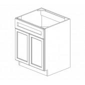 SB27B Ice White Shaker Sink Base Cabinet #