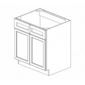 SB30B Ice White Shaker Sink Base Cabinet